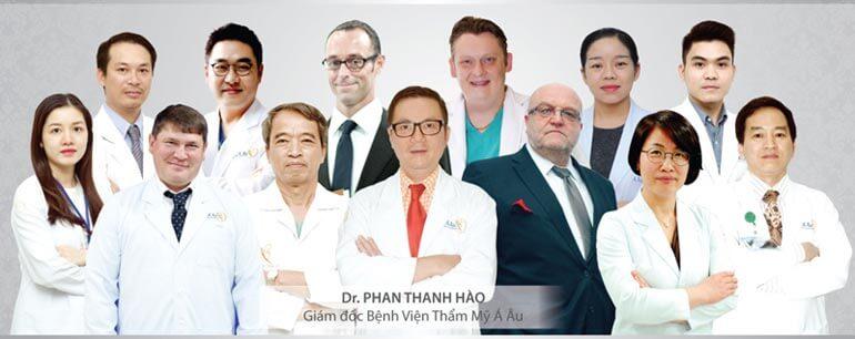 Đội ngũ bác sĩ giỏi - giàu kinh nghiệm tại Á Âu.