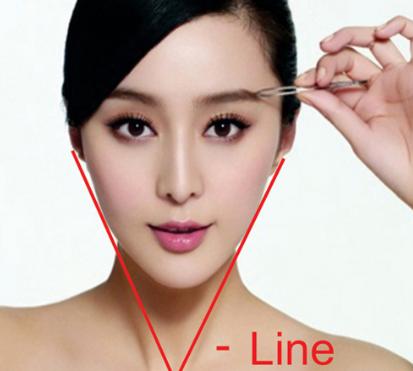 Làm mặt v line bằng cách trang điểm