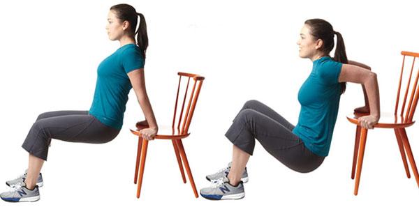 chống đẩy ngược giúp giảm mỡ tay và vai