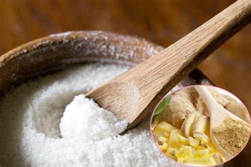 giảm mỡ bụng sau sinh bằng gừng và muối