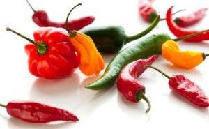ớt giúp giảm béo mặt