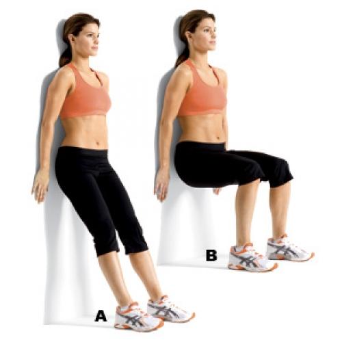 bài tập tựa lưng vào tường để giảm mỡ mông