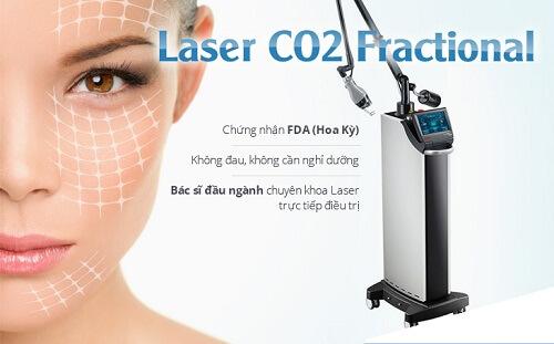 trị sẹo rỗ bằng laser co2 1