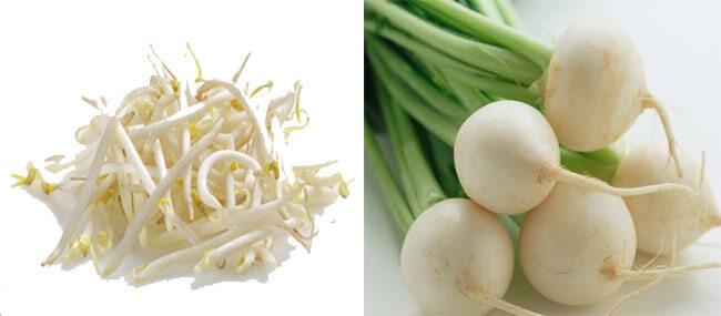 trị nám tàn nhang bằng rau trong bếp