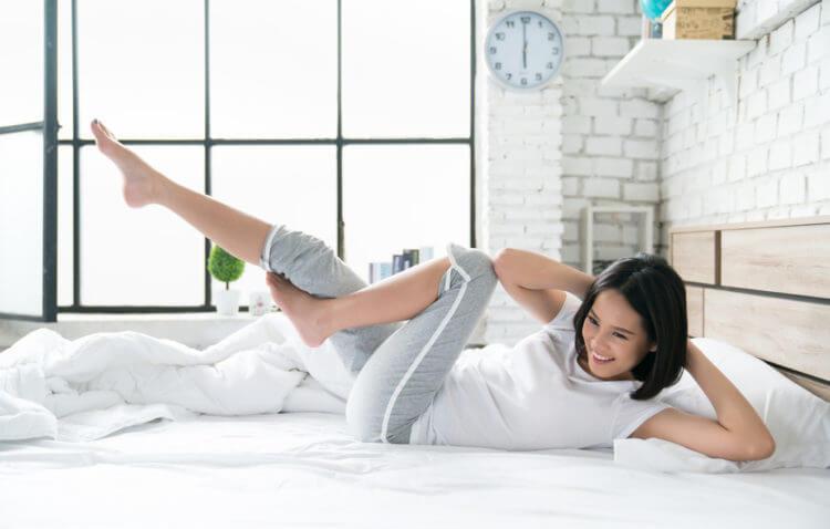 Bài tập giảm mỡ bụng trên giường