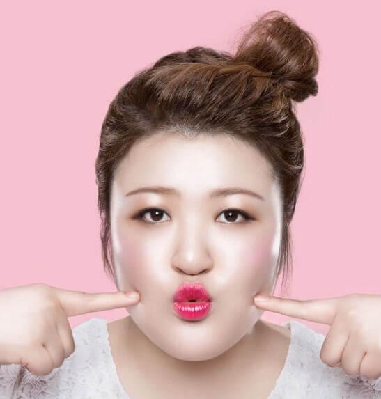 Mỡ mặt làm gương mặt mập hơn